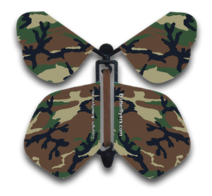 Cool Camo Wind Up Flying Butterfly For Greeting Cards from Butterflyers.com
