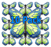 Cobalt Green Monarch Flying Butterfly (10 Pack)