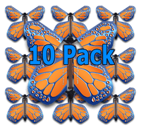 Cobalt Orange Monarch Flying Butterfly (10 Pack)