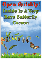 Rare Butterfly Cocoon Greeting Card (Card Only)