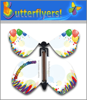 Congratulations Wind Up Flying Butterfly For Greeting Cards from Butterflyers.com