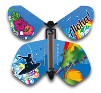 Aloha Hawaii Rainbows Wind Up Flying Butterfly