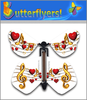 Heart Sing Butterfly Wind Up Flying Butterfly For Greeting Cards by Butterflyers.com