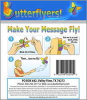 Trump Wind Up Flying Butterfly Instructions For Greeting Cards by butterflyers.com