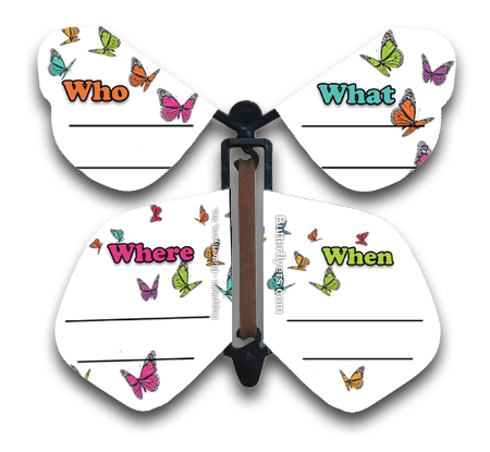 Invitation Wind Up Flying Butterfly (Who, What, Where, When)