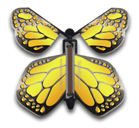 Yellow Iron Wind Up Flying Butterfly