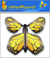 Metallic Iron Wind Up Flying Butterfly For Greeting Cards by Butterflyers.com