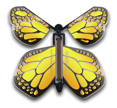 Metallic Iron Wind Up Flying Butterfly
