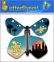 I Love LA Wind Up Flying Butterfly by For Greeting Cards Butterflyers.com
