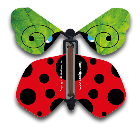Ladybug Wind Up Flying Butterfly
