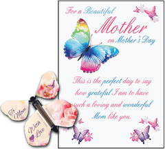 Mothers Day Greeting Card With Flying Butterfly