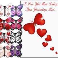 More Today Than Yesterday Greeting Card With Flying Butterfly from Butterflyers.comCard
