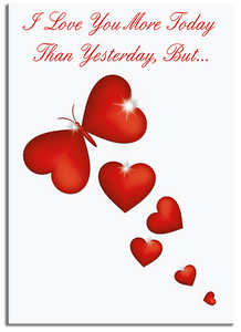 More Today Than Yesterday greeting card from butterflyers.com