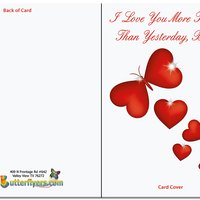More Today Than Yesterday Outside Greeting Card With Flying Butterfly from Butterflyers.comCard