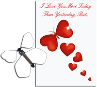 More Today Than Yesterday Greeting Card With Blank Flying Butterfly from Butterflyers.comCard