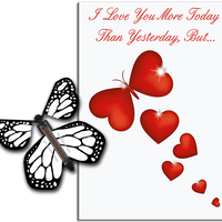 More Today Than Yesterday Greeting Card With White Flying Butterfly from Butterflyers.comCard
