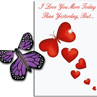 More Today Than Yesterday Greeting Card With Purple Flying Butterfly from Butterflyers.comCard