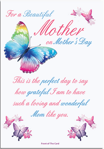 Mothers Day greeting card from butterflyers.com