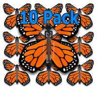 Orange Monarch Flying Butterfly (10 Pack)