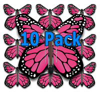 Pink Monarch Flying Butterfly (10 Pack)