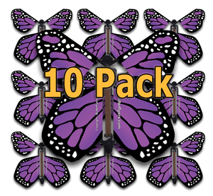 Purple Monarch Flying Butterfly (10 Pack)