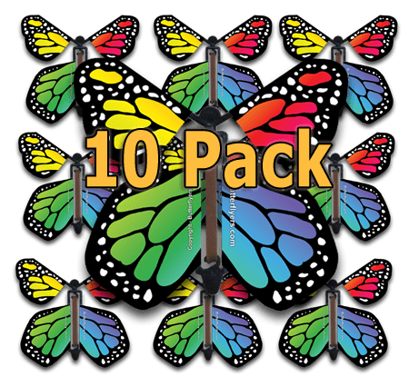 Rainbow Monarch Flying Butterfly (10 Pack)