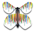 Raining Rainbows Wind Up Flying Butterfly