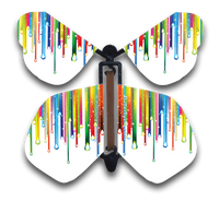 Raining Rainbows Flying Butterfly
