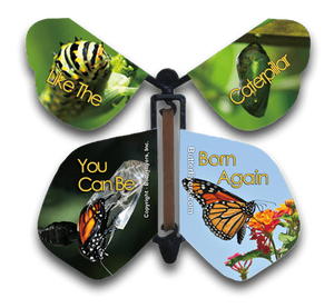 Born Again Wind Up Flying Butterfly For Greeting Cards by Butterflyers.com
