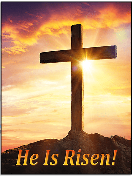 He is Risen Greeting Card Cover by Butterflyers.com