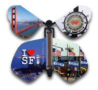 I Love San Francisco Flying Butterfly