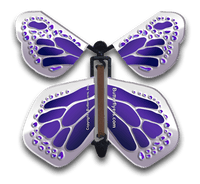 Purple Silver Monarch Magic Flying Butterfly