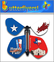 Big Tex Wind Up Flying Butterfly For Greeting Cards by Butterflyers.com