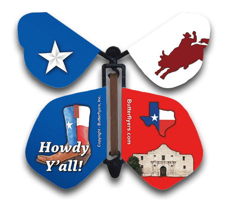 Big Tex Wind Up Flying Butterfly