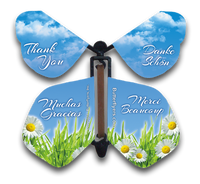 Thank You wind up flying butterfly