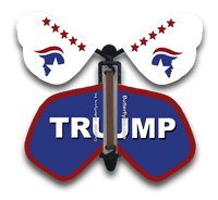 Trump Wind Up Flying Butterfly For Greeting Cards by butterflyers.com