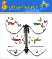 Invitation Wind Up Flying Butterfly For Greeting Cards by Butterflyers.com
