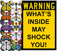 I Warned You greeting card with flying butterfly from butterflyers.com