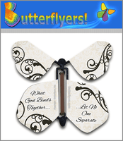Classic Wedding Wind Up Flying Butterfly For Greeting Cards by Butterflyers.com