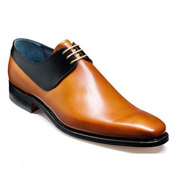 Bespoke Black & Tan Leather Lace Up Shoe for Men - leathersguru