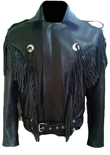 Men's Leather Tussles Bomber Biker Jacket - leathersguru