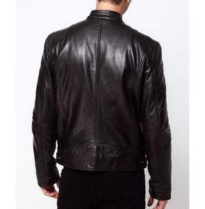 Bespoke Collection Soft Lambskin Leather Biker Black Jacket - leathersguru