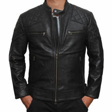 Load image into Gallery viewer, Men's Genuine leather jacket for men, Handmade Stylish Jacket - leathersguru