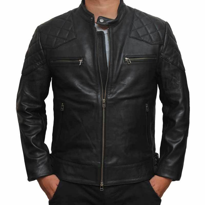 Men's Genuine leather jacket for men, Handmade Stylish Jacket - leathersguru
