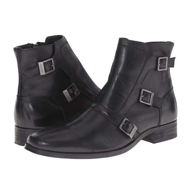 Handmade Black Leather Triple Monk Boot - leathersguru