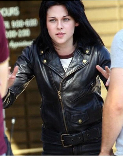 The Runways Kristen Stewart Joan Leather Women's Black Jacket - leathersguru