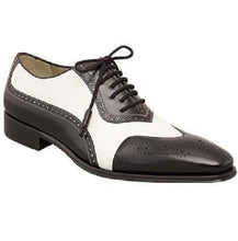 Load image into Gallery viewer, Men Spectator Shoes, Black And White Formal Shoes, Men's Shoes