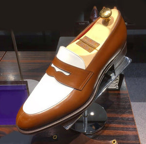 Men Two tone Formal Shoes, Men Spectator Shoes, Men Leather Dress Shoes