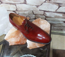 Load image into Gallery viewer, Handmade Burgundy Brogue Men's Leather Shoe - leathersguru