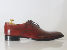 Load image into Gallery viewer, Bespoke Burgundy Brogue Toe Shoe for Men - leathersguru